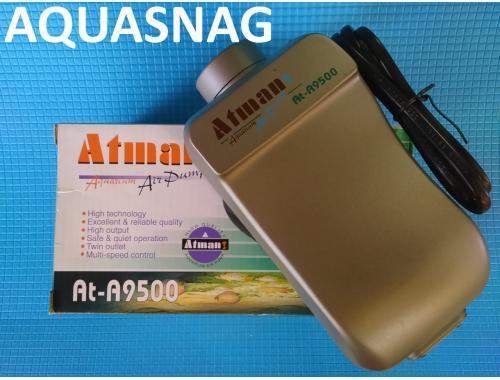 Фото Компрессор Atman AT-9500, (4,8Вт, 9L/min, 0.022Мра) 2-х канальн. плавная регулировка aquasnag.com