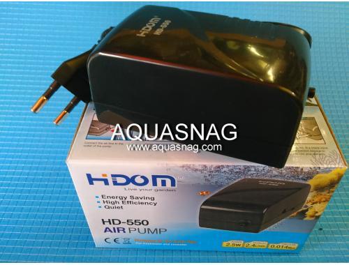 Фото Компрессор HIDOM HD-550, 2.4л/мин, 2.5Вт, 0.014Мра aquasnag.com