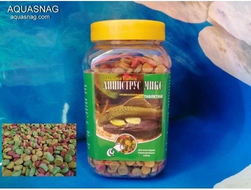 Фото Микс в таблетках -банка 300г, витаминизированный корм для рыб. ТМ Золотая Рыбка Купить