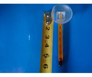 Мини термометр, желтый 6см