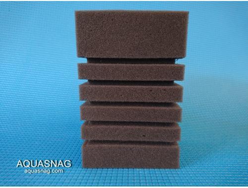Фото Мочалка серая (10*10*15)см, с прорезями для лучшей фильтрации aquasnag.com