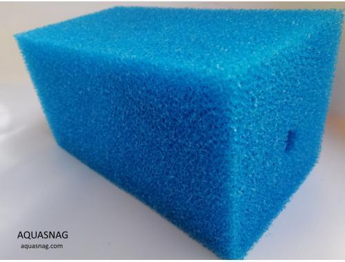 Фото Мочалка синяя (10*10*20)см, среднепористая Смотреть