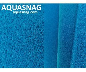 Мочалка синяя, лист (49*49*2.5)см, крупнопористая