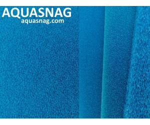 Мочалка синяя, лист (49*49*2.5)см, мелкопористая