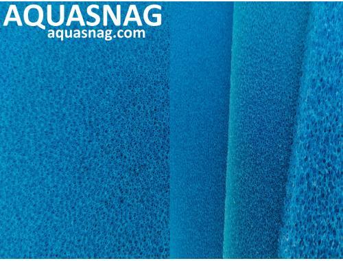 Фото Мочалка синяя, лист (49*49*2.5)см, среднепористая Смотреть