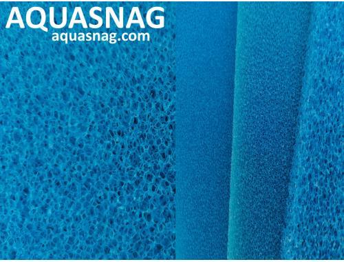 Фото Мочалка синяя, лист (49*49*5)см, крупнопористая Смотреть