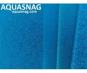 Мочалка синяя, лист (49*49*5)см, среднепористая