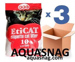 Наполнитель для кошачьего туалета Eticat 10,0Lx3 шт (30 л)
