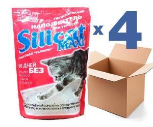 Наполнитель для кошачьего туалета SILICAT MAXI 7.2Lx4шт (28.8л)
