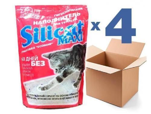 Фото Наполнитель для кошачьего туалета SILICAT MAXI 7.2Lx4шт (28.8л) Купить