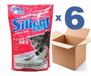 Наполнитель для кошачьего туалета SILICAT5.0Lx6шт (30л)