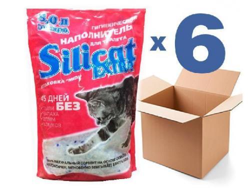 Фото Наполнитель для кошачьего туалета SILICAT5.0Lx6шт (30л) Смотреть