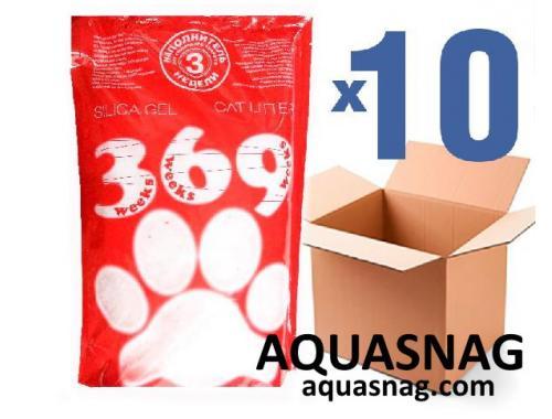 Фото Наполнитель силикагелевый для кошачьего туалета 369, 3.6Lx10шт(36L) aquasnag.com