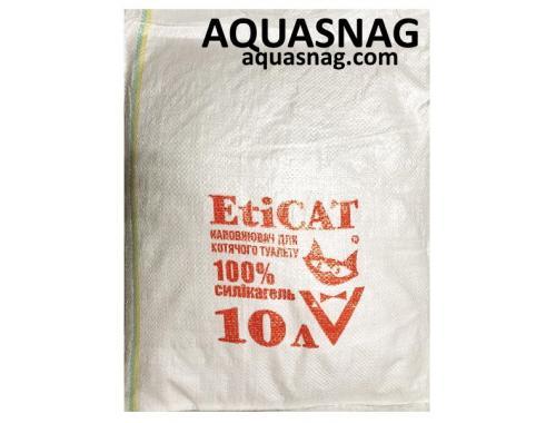 Фото Наполнитель силикагелевый для кошачьего туалета Eticat 10 л, ЭКОНОМ Смотреть