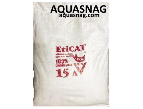 Фото Наполнитель силикагелевый для кошачьего туалета Eticat 15 л, ЭКОНОМ aquasnag.com
