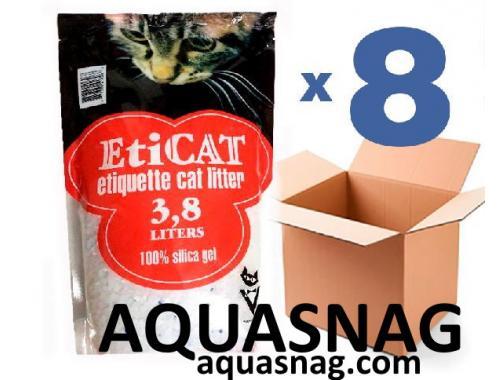 Фото Наполнитель силикагелевый для кошачьего туалета Eticat 3.8Lx8 шт (30,4л) Купить