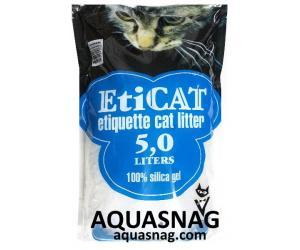 Наполнитель силикагелевый  для кошачьего туалета Eticat 5.0 л