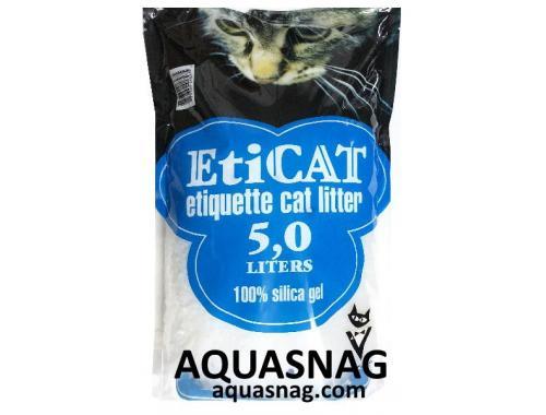 Фото Наполнитель силикагелевый  для кошачьего туалета Eticat 5.0 л Купить