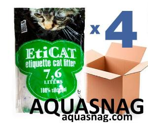 Наполнитель силикагелевый для кошачьего туалета Eticat 7,6Lx4 шт (30,4л)