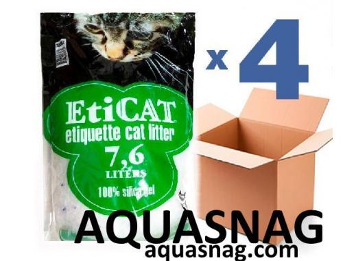 Фото Наполнитель силикагелевый для кошачьего туалета Eticat 7,6Lx4 шт (30,4л) aquasnag.com