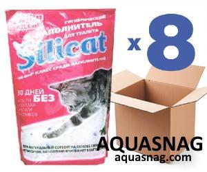 Наполнитель силикагелевый для кошачьего туалета SILICAT 3.8Lx8шт (30,4л)