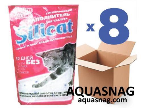 Фото Наполнитель силикагелевый для кошачьего туалета SILICAT 3.8Lx8шт (30,4л) aquasnag.com