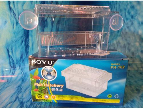 Фото Отсадник с крышечкой для рыб (16*8*8.2)см, пластик, Boyu FH-102 Купить