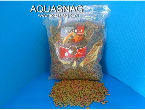 Фото Палочки Цихлида крупные 1кг, основной витаминизированный  корм для всех видов цихловыхи других  рыб Смотреть