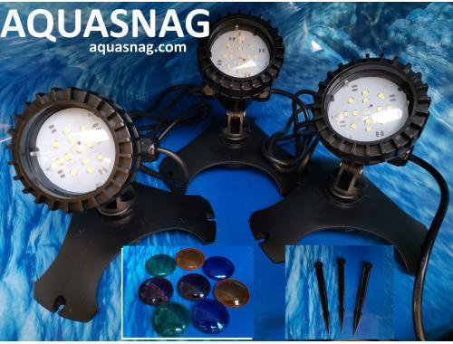 Фото Подсветка подводная для пруда SunSun CLD-302, 3шт, LED 1.2W aquasnag.com