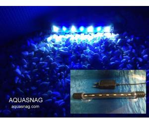 Подводная светодиодная  лампа 18.5см,  голубая с белым, 20 LED
