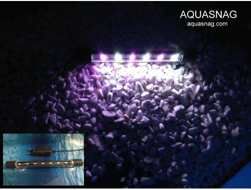 Фото Подводная светодиодная  лампа 18.5см, розовая с белым, 20 LED Смотреть