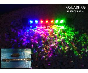 Подводная светодиодная  лампа 18.5см, трехцветная, 20 LED