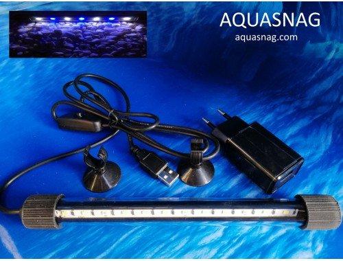 Фото Подводная светодиодная  лампа 20 LED, голубая с белым aquasnag.com