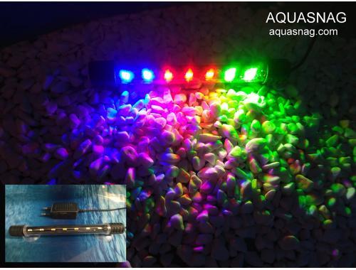 Фото Подводная светодиодная  лампа 28.5см, трехцветная, 30LED Купить