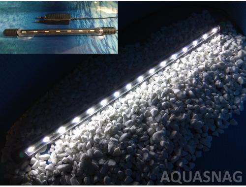 Фото Подводная светодиодная лампа 38.5см, белая, 40 LED Смотреть