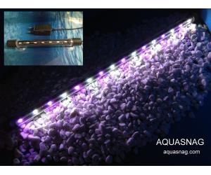 Подводная светодиодная  лампа 38.5см, розовая с белым, 40 LED,