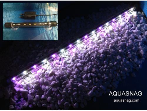 Фото Подводная светодиодная  лампа 38.5см, розовая с белым, 40 LED, aquasnag.com