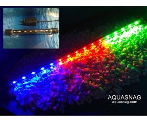 Подводная светодиодная лампа 38.5см, трехцветная, 40 LED