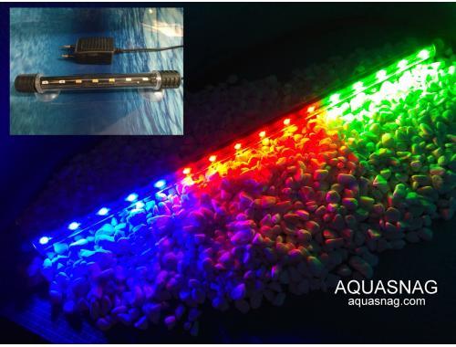 Фото Подводная светодиодная лампа 38.5см, трехцветная, 40 LED aquasnag.com