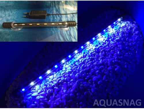 Фото Подводная светодиодная лампа 48.5см, голубая с белым, 50 LED aquasnag.com