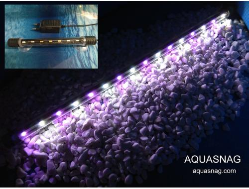 Фото Подводная светодиодная лампа 48.5см, розовая с белым, 50 LED Купить