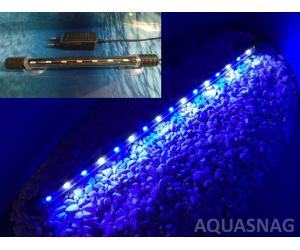 Подводная светодиодная лампа 58.5см, голубая с белым, 60 LED