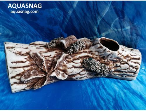 Фото Полено большое,  дл 34см, шир 13см, выс 11см, корчневый aquasnag.com