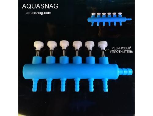 Фото Распределитель воздуха с плавной регулировкой на шесть выходов Купить