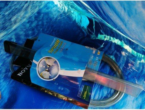 Фото С дефектом очиститель грунта и слив для воды BOYU GC-102 с обратным клапаном aquasnag.com