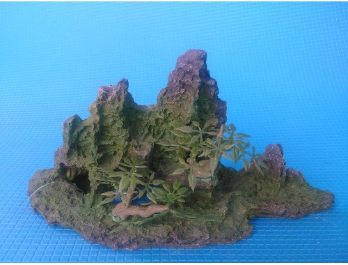 Фото Скала с деревцами KD--011, дл 24.5см, шир 10.5см, выс 13.5см Смотреть