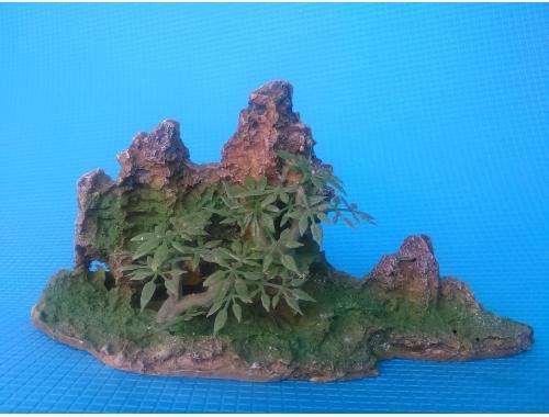 Фото Скала с деревцами KD--011b,  дл 24.5см, шир 10.5см, выс 13.5см Купить