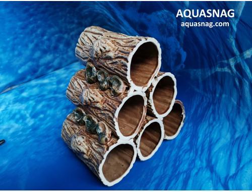 Фото Соты из шести бревнышек,  дл 12см, шир 18.5, выс 17см, коричневый aquasnag.com