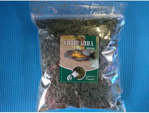 Фото Спирулина - растительный корм в хлопьях со спирулиной, 500г Купить