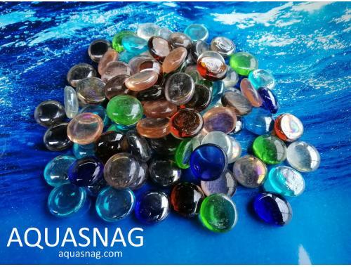 Фото Стеклянные камушки марблс, микс, 500г aquasnag.com